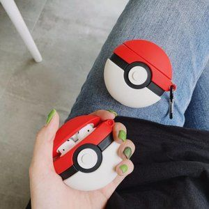 NEW Poke Ball Airpods Pro Silicone Case W/Hook
